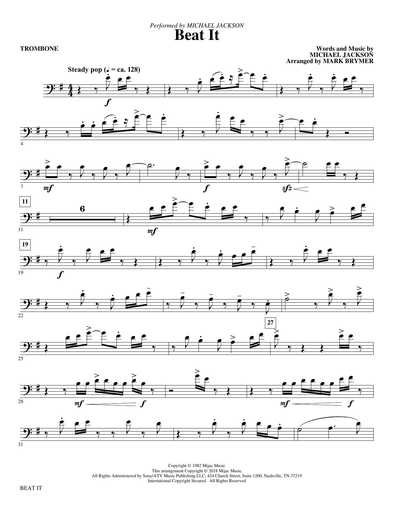 Beat It - Trombone (Choir Instrumental Pak)
