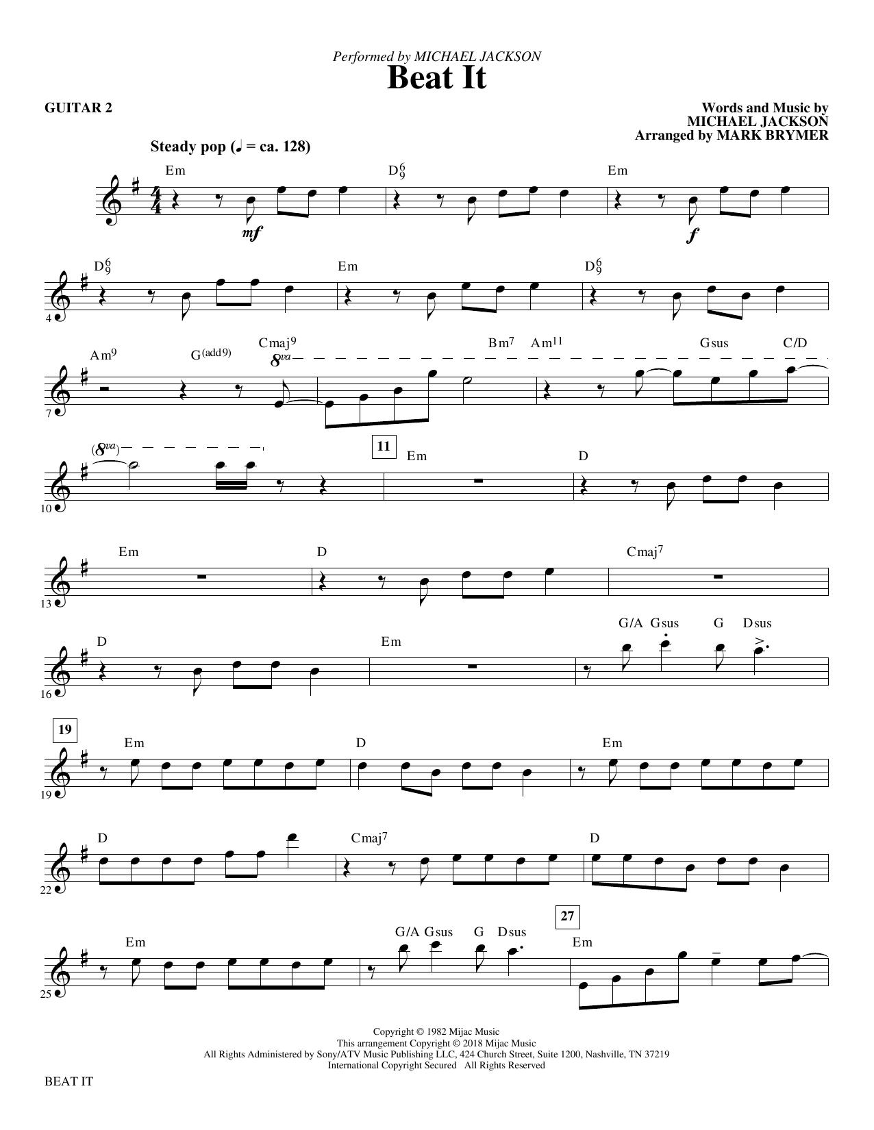Beat It - Guitar 2 (Choir Instrumental Pak)