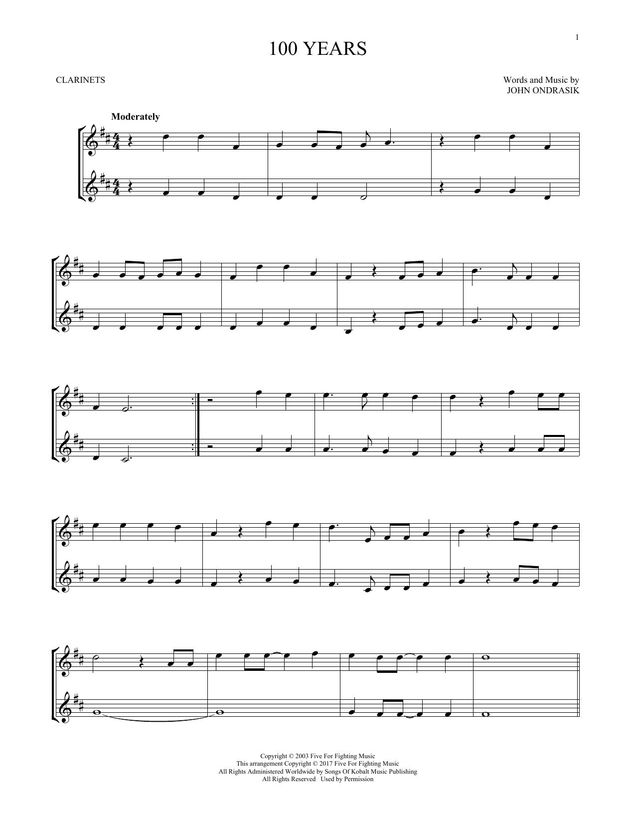 100 Years (Clarinet Duet)