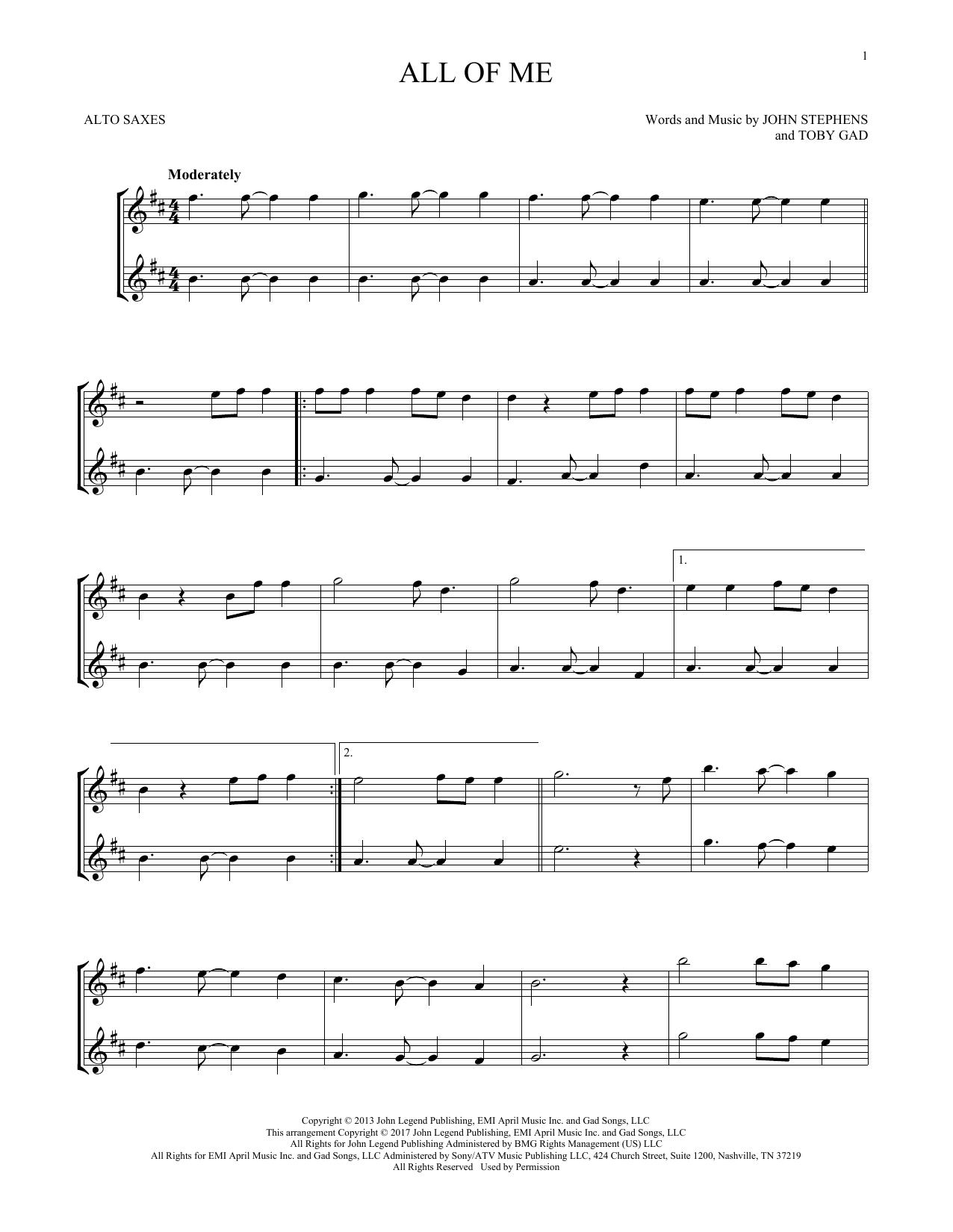 All Of Me (Alto Sax Duet)