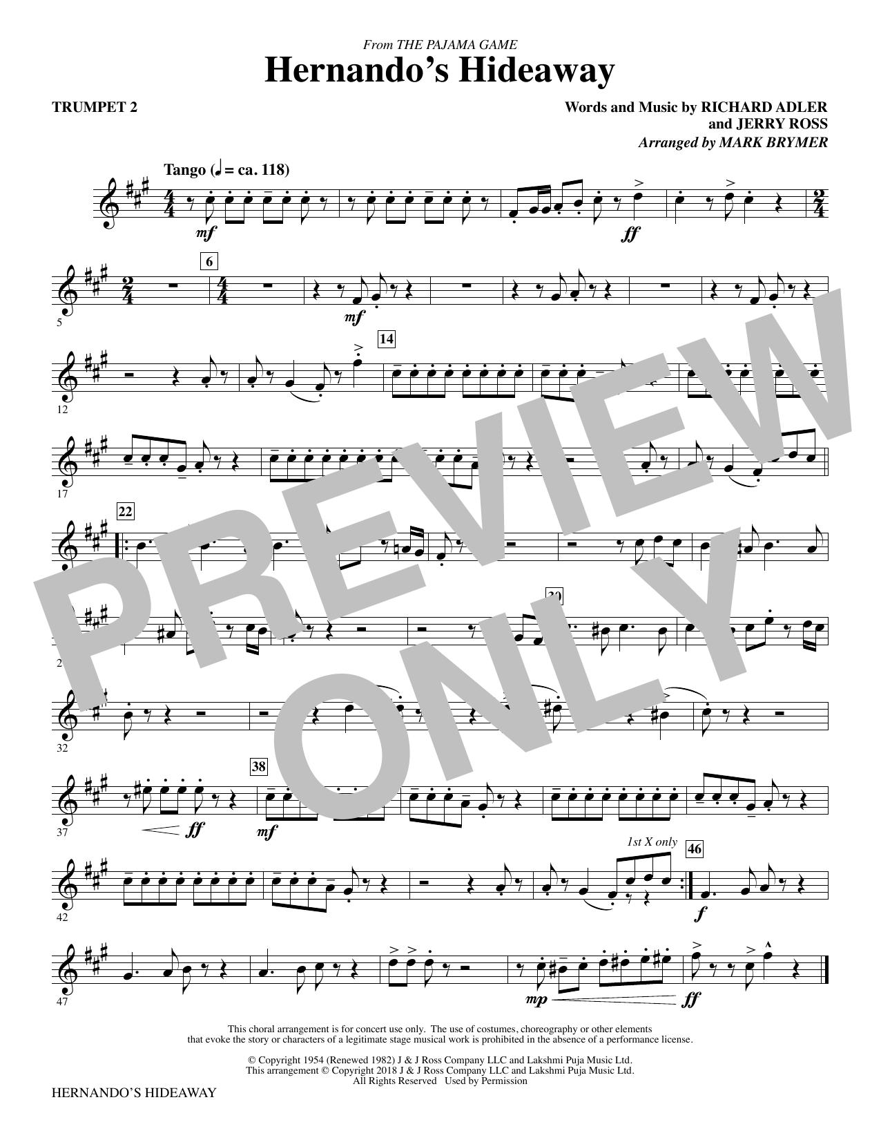 Hernando's Hideaway - Trumpet 2 (Choir Instrumental Pak)