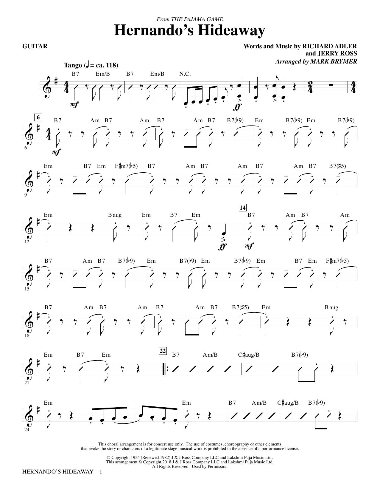 Hernando's Hideaway - Guitar (Choir Instrumental Pak)