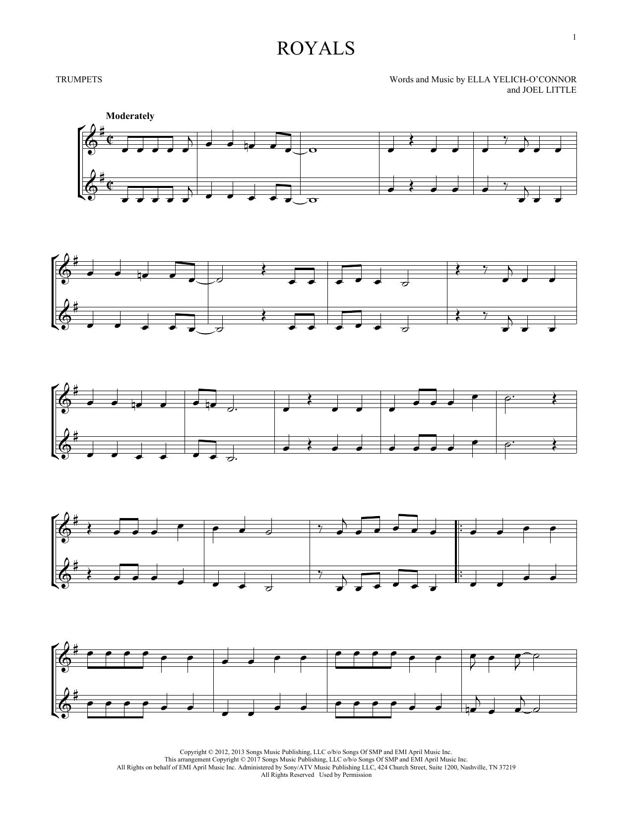 Royals (Trumpet Duet)