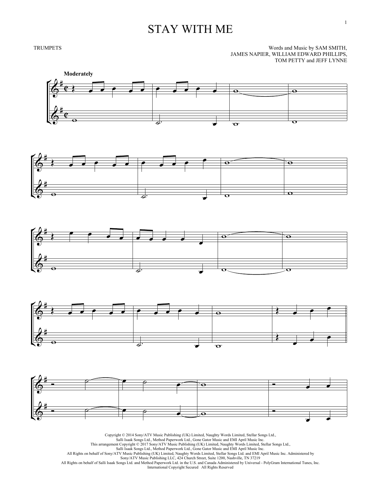 Stay With Me (Trumpet Duet)
