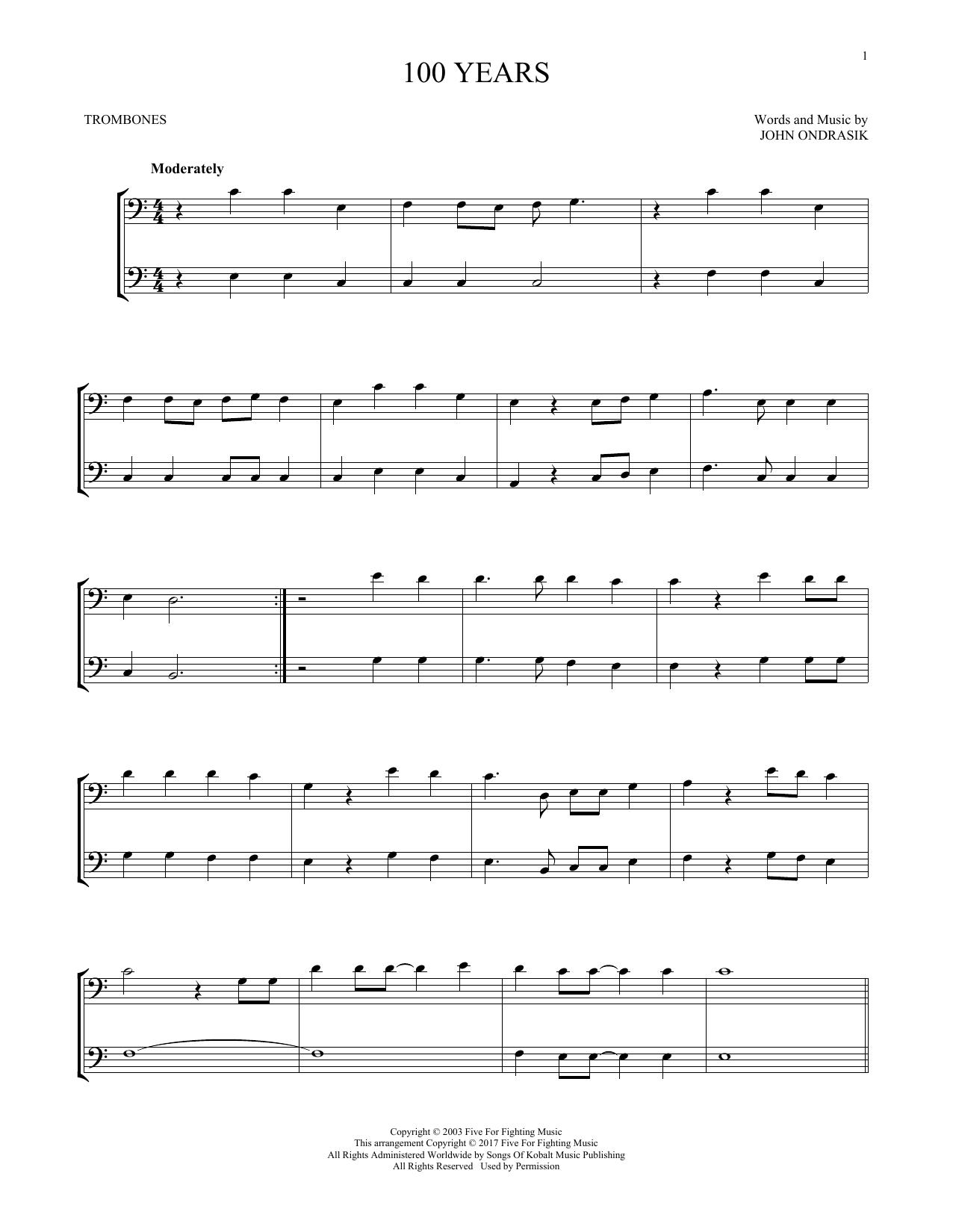 100 Years (Trombone Duet)