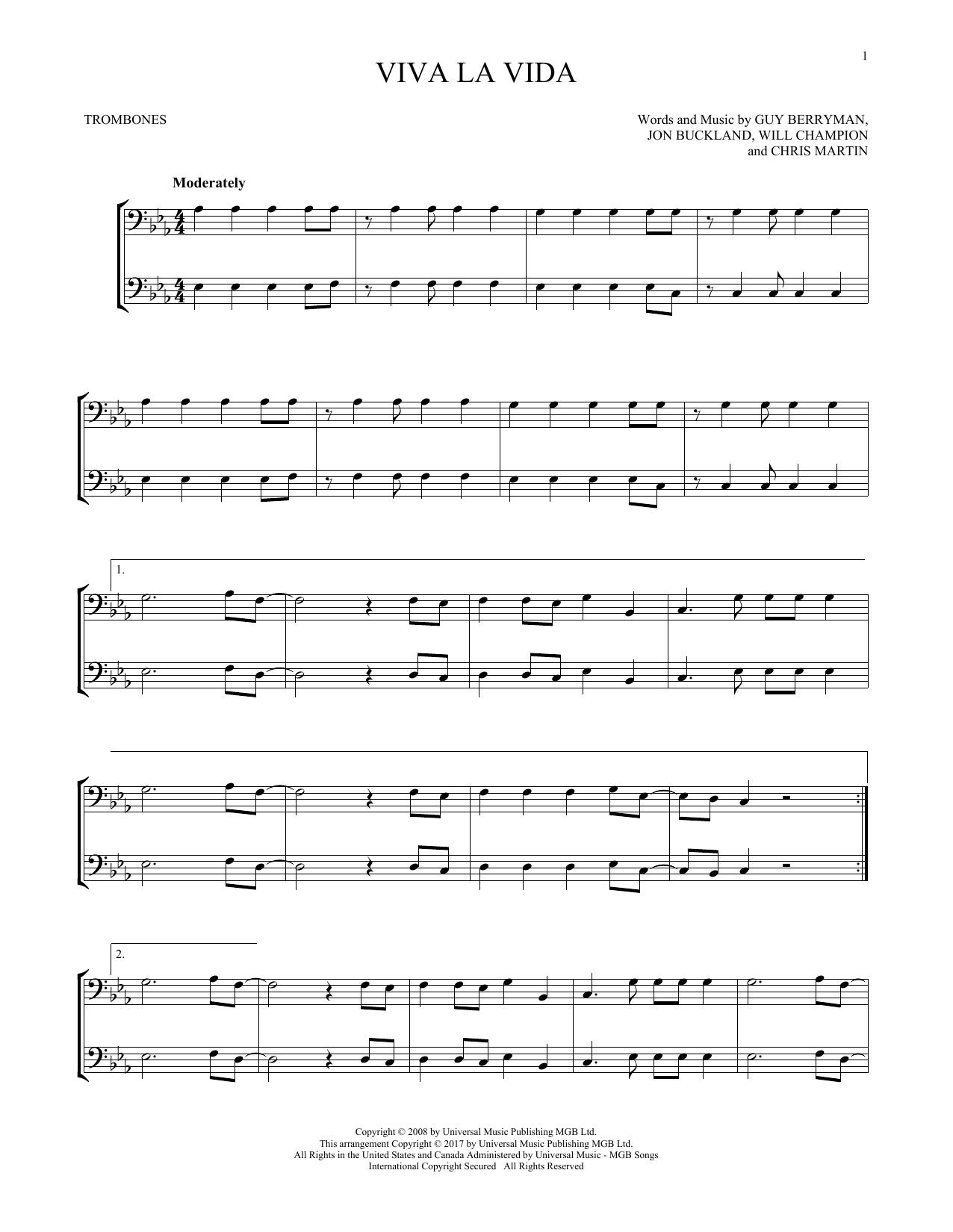 Viva La Vida (Trombone Duet)