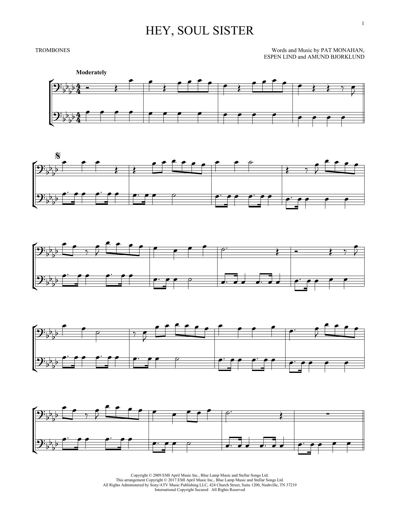 Hey, Soul Sister (Trombone Duet)