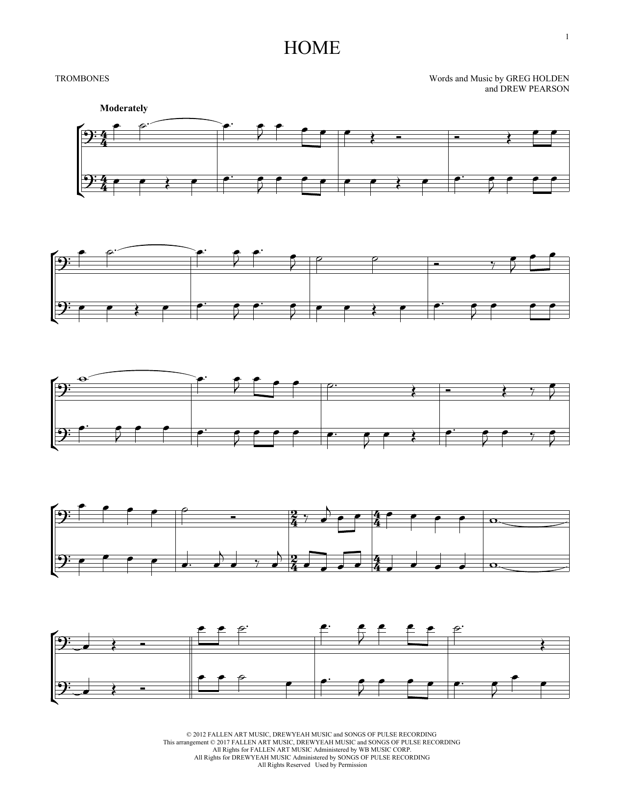 Home (Trombone Duet)