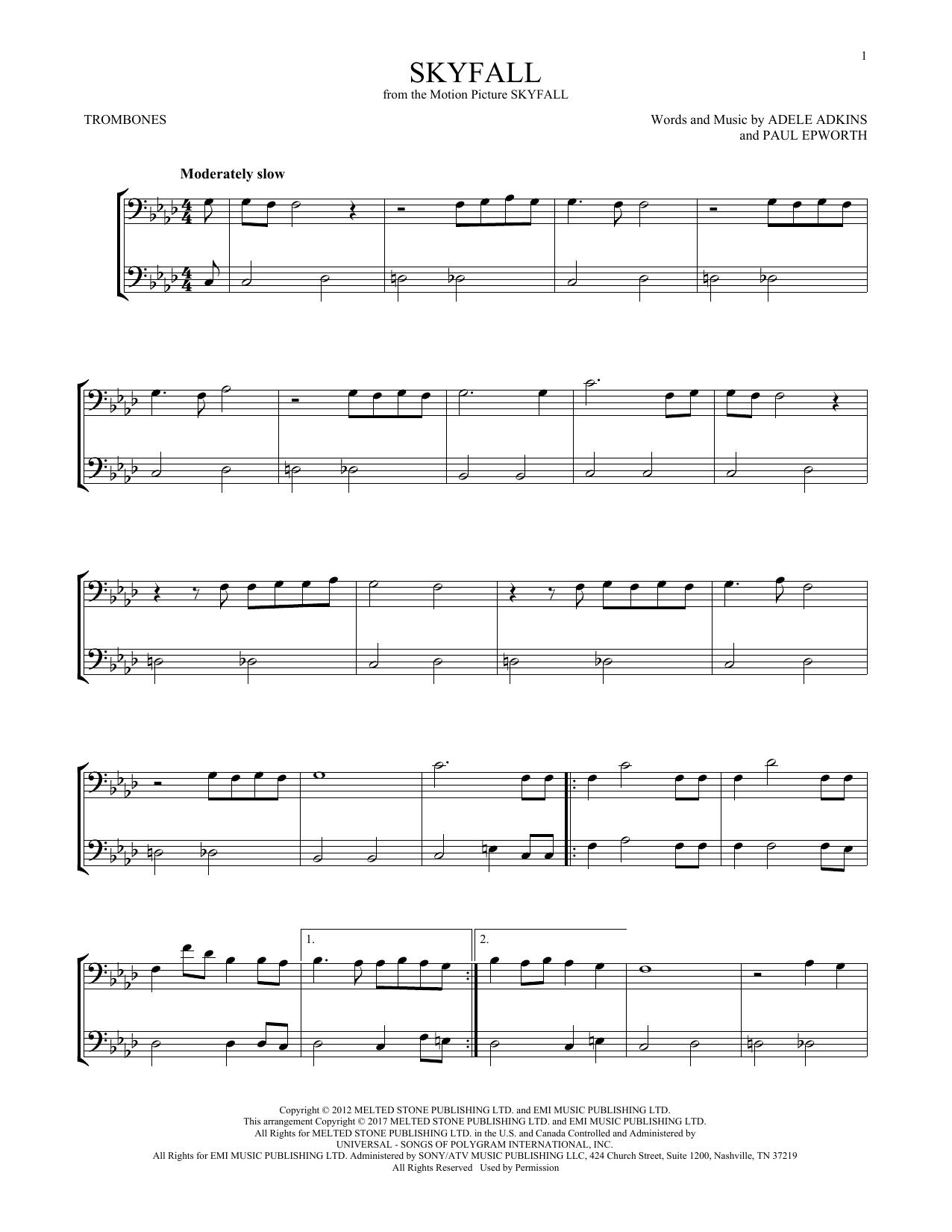 Skyfall (Trombone Duet)