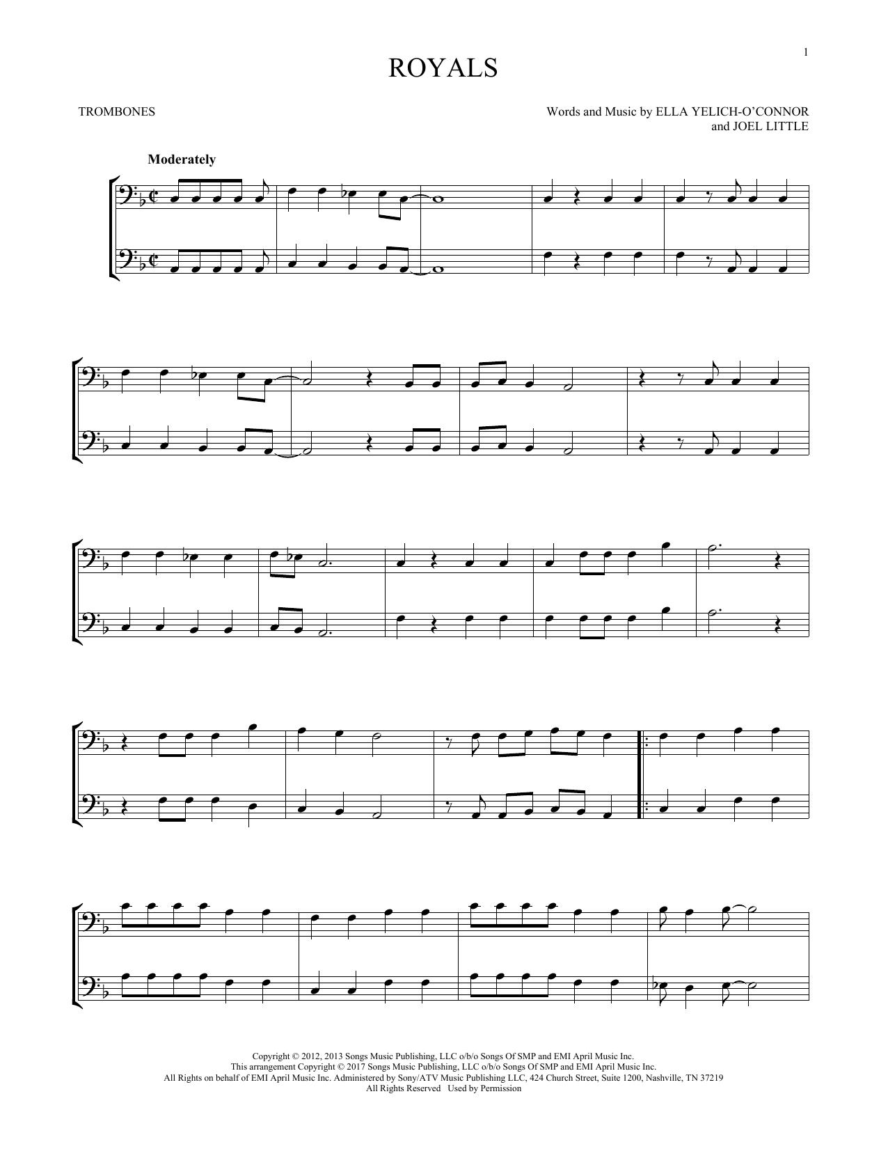 Royals (Trombone Duet)