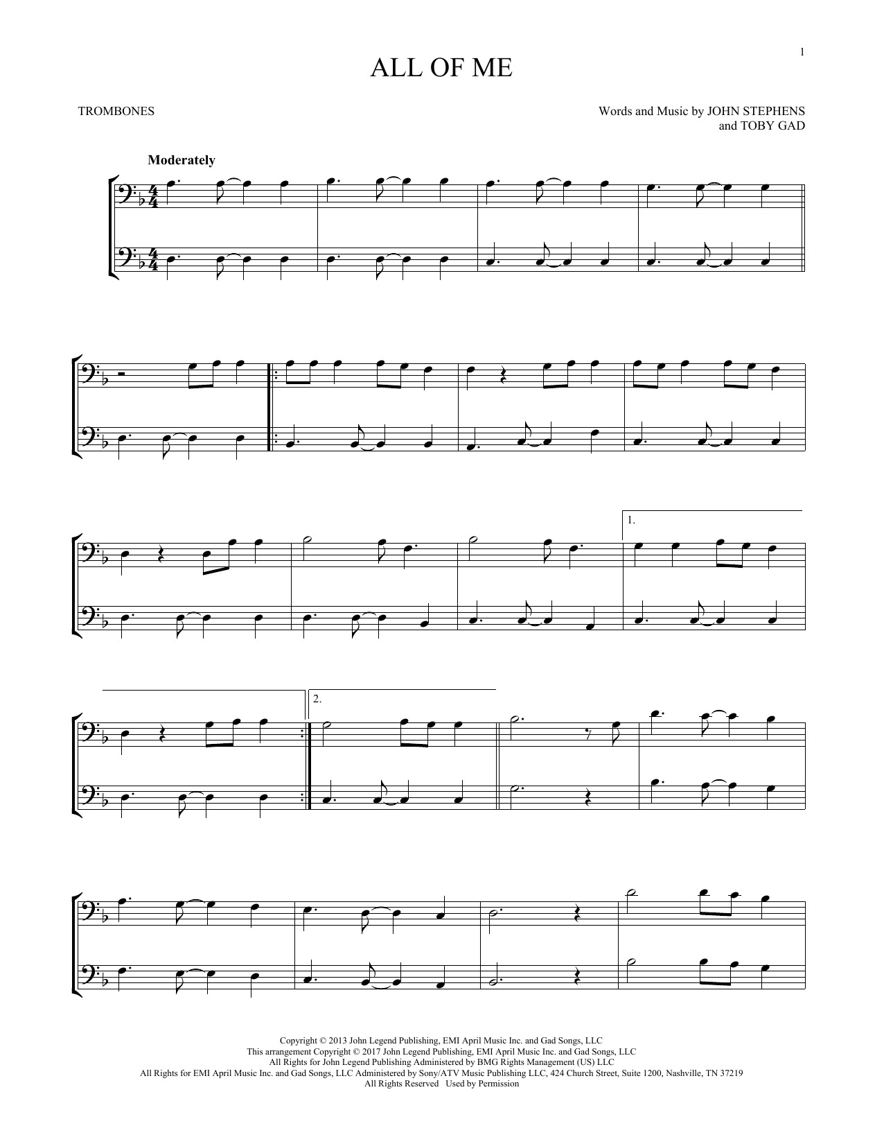 All Of Me (Trombone Duet)