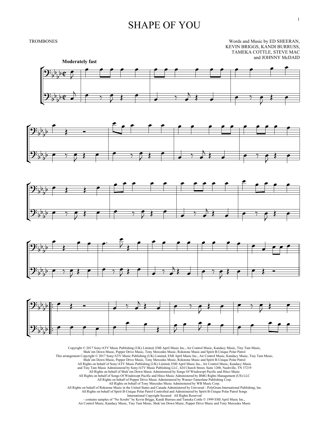 Shape Of You (Trombone Duet)