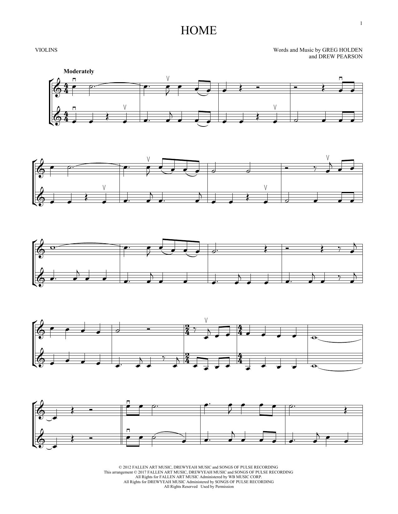 Home (Violin Duet)