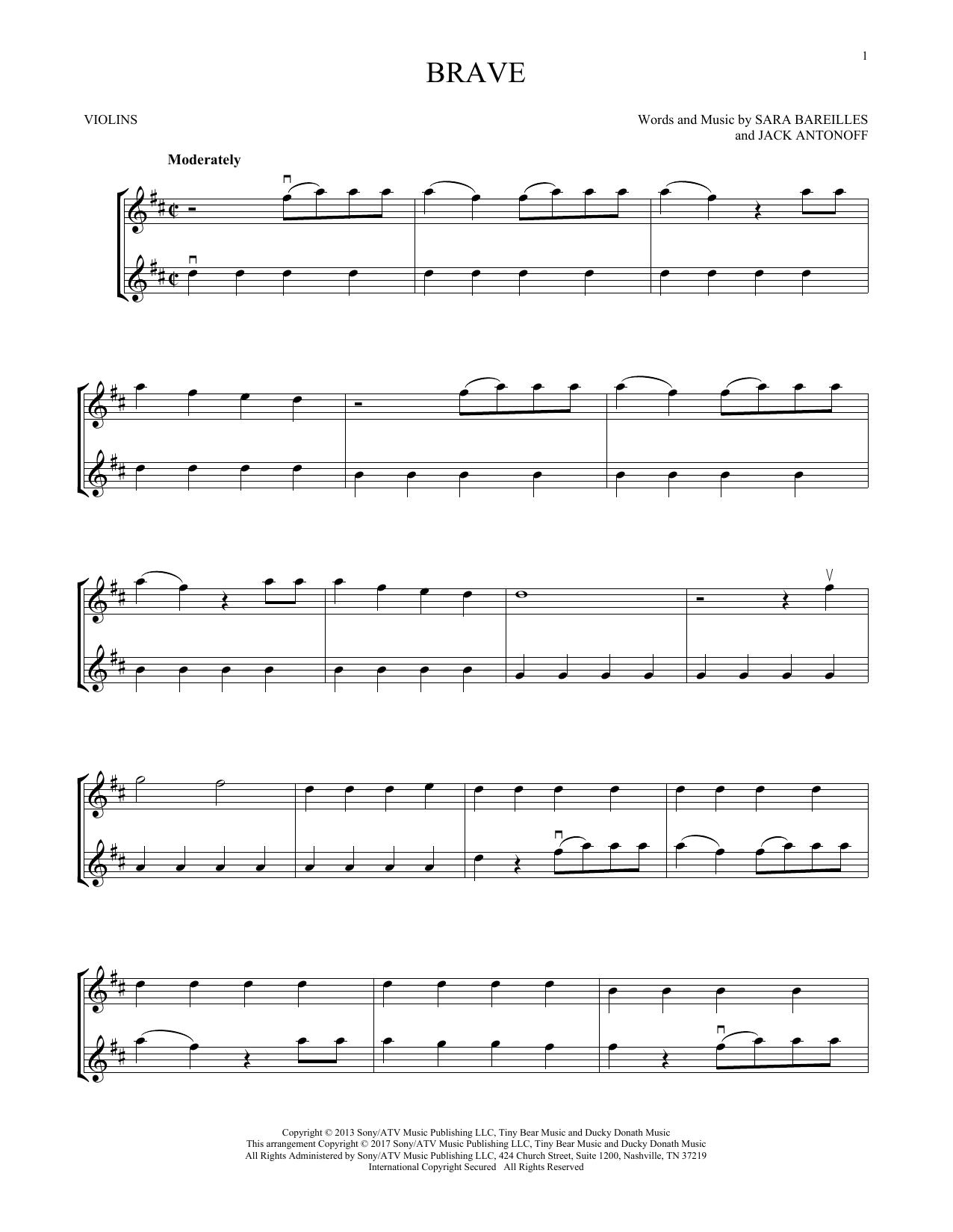 Brave (Violin Duet)
