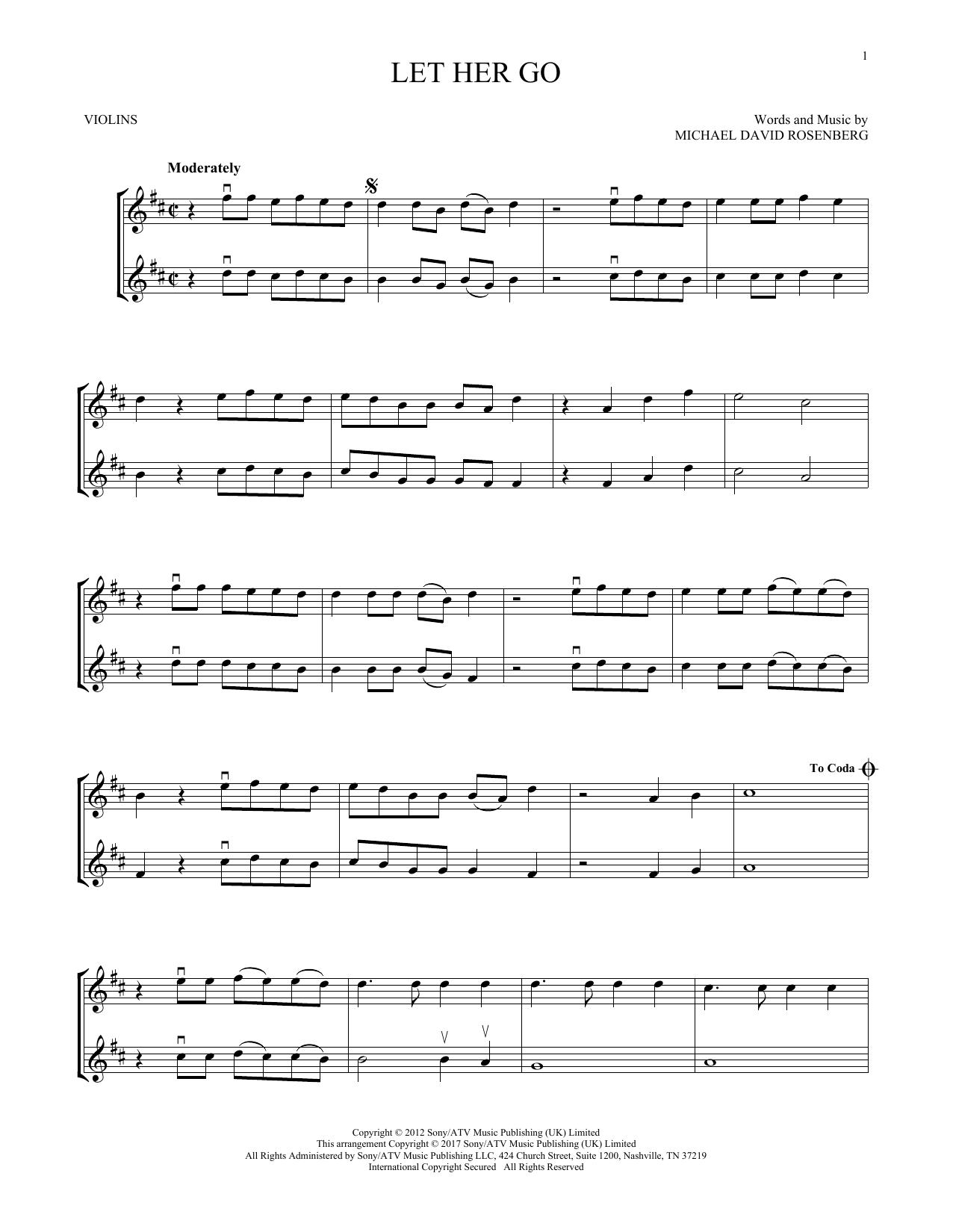 Let Her Go (Violin Duet)