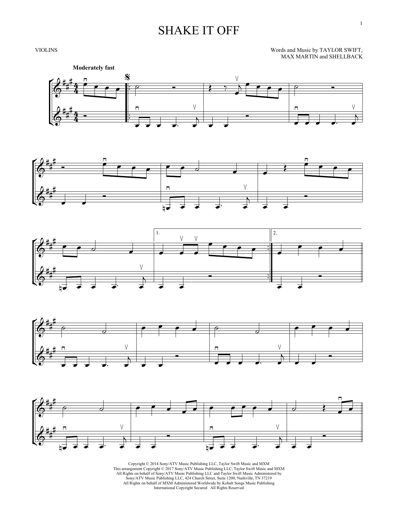 Shake It Off (Violin Duet)