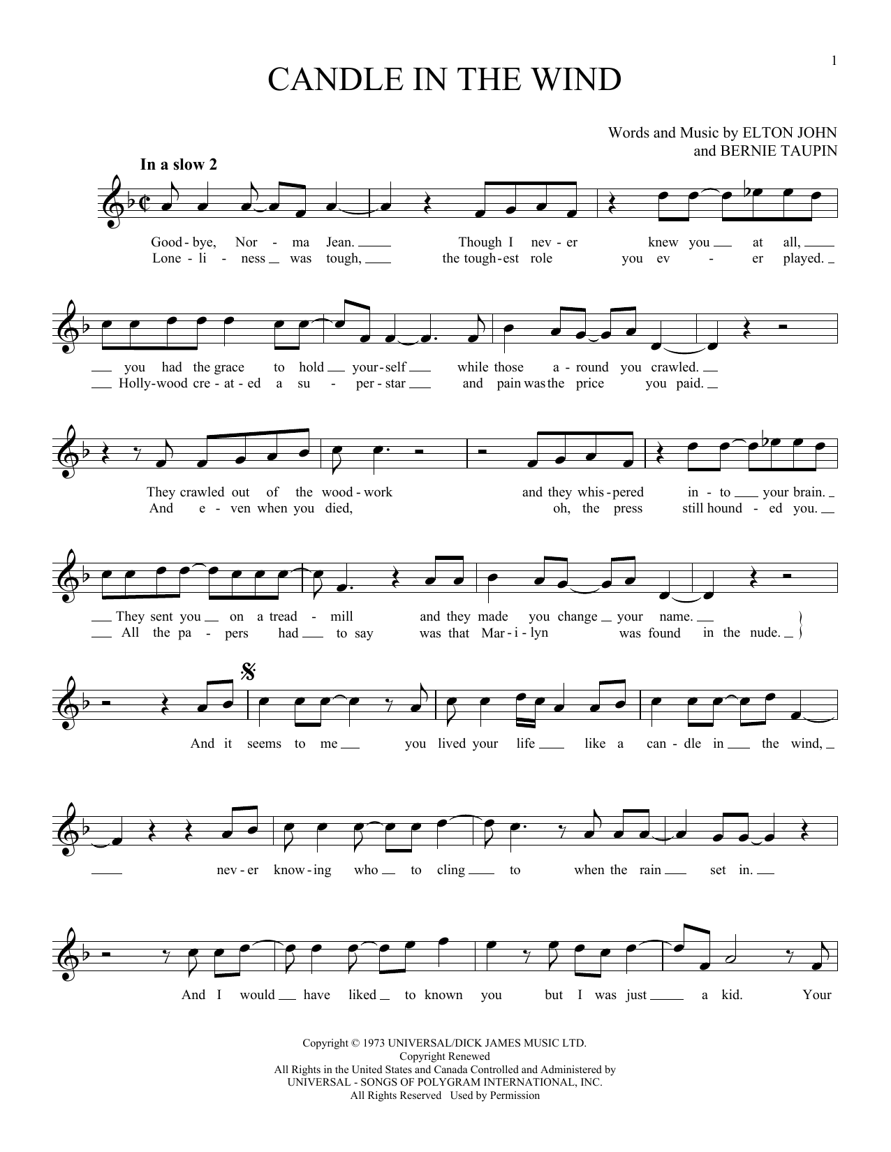 Candle In The Wind (Ocarina)
