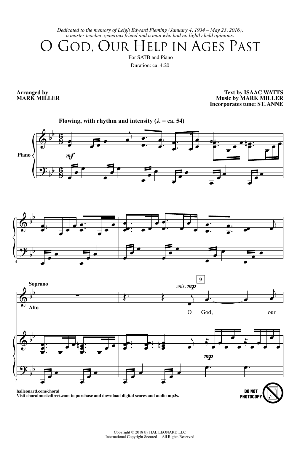 O God, Our Help In Ages Past (SATB Choir)