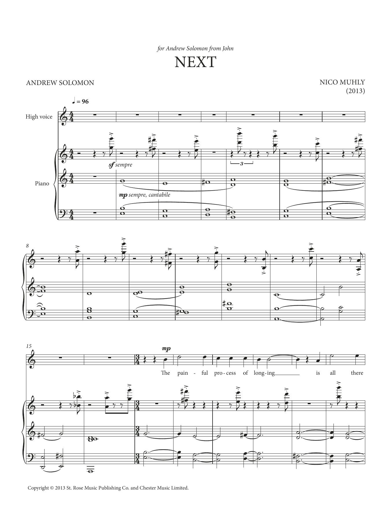 Next Sheet Music