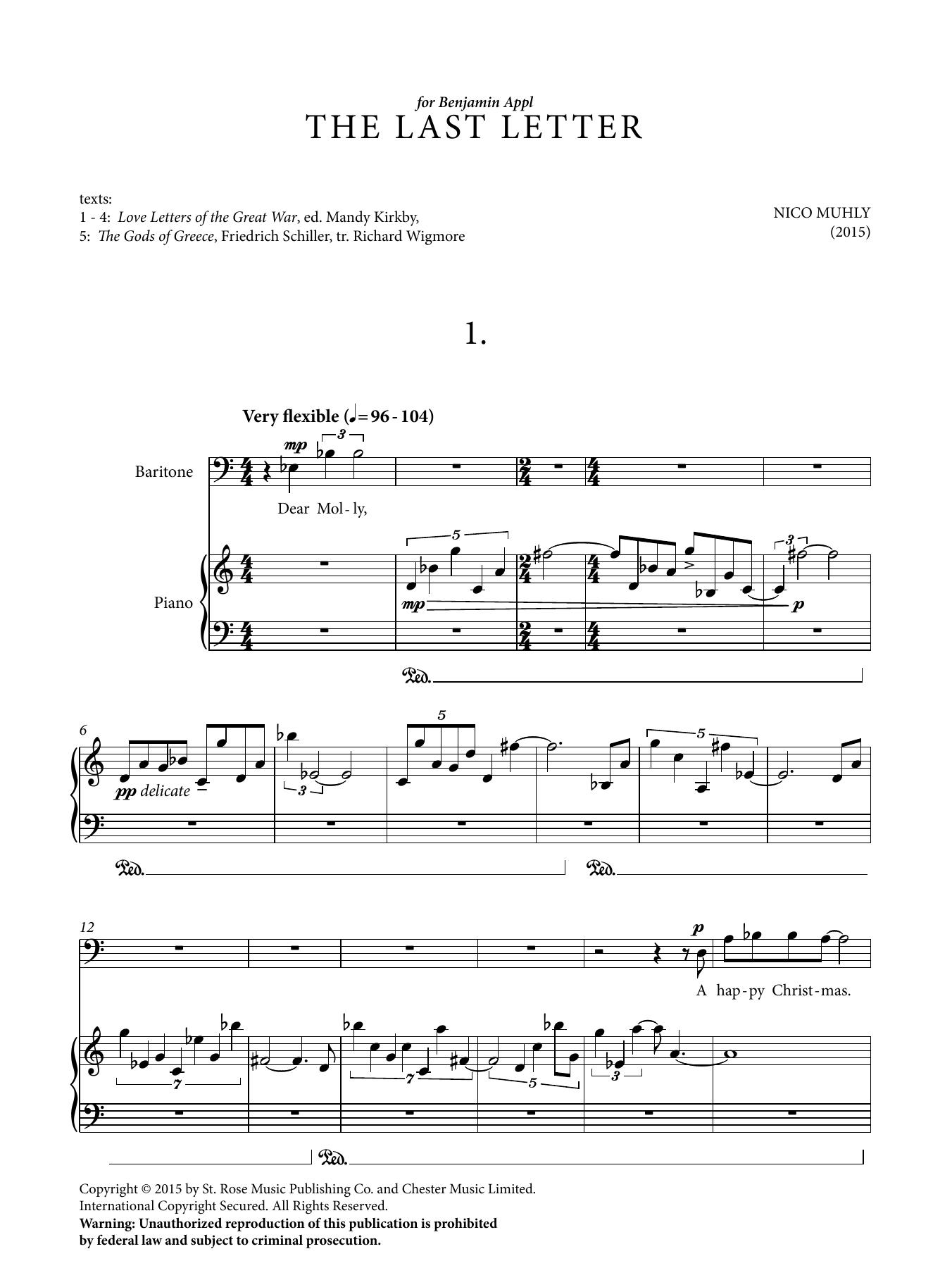 The Last Letter Sheet Music