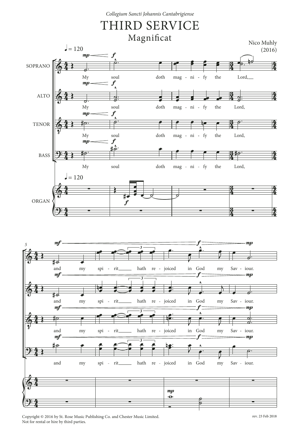 Third Service (Magnificat and Nunc Dimittis) Sheet Music