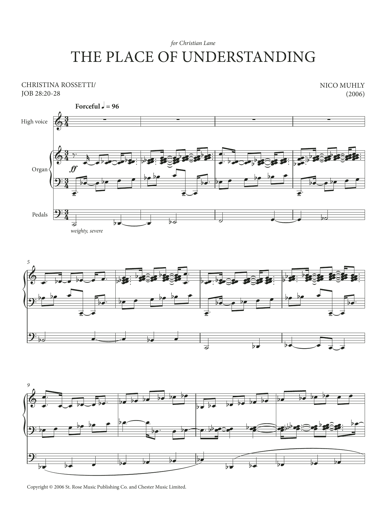 The Place Of Understanding (for High Voice and Organ) Sheet Music