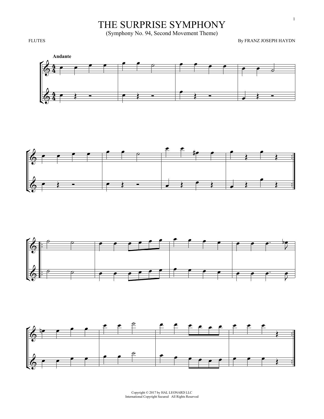 The Surprise Symphony (Flute Duet)