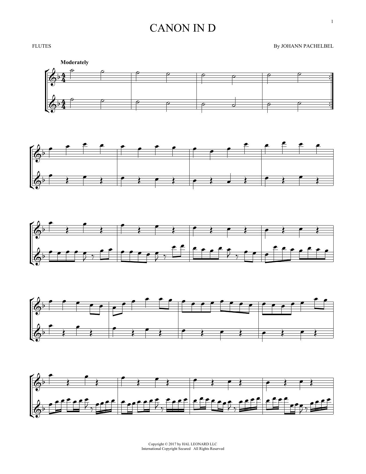 Canon In D (Flute Duet)
