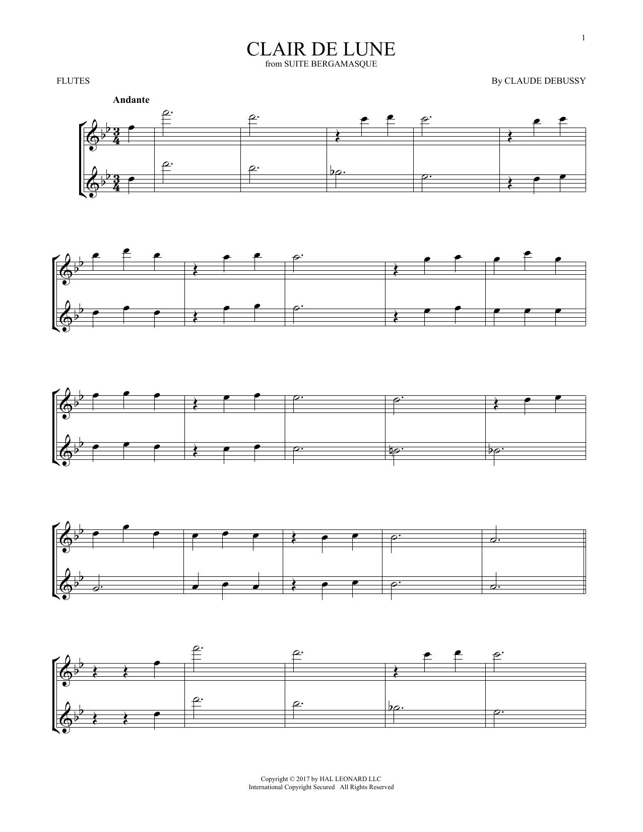 Clair De Lune (Flute Duet)