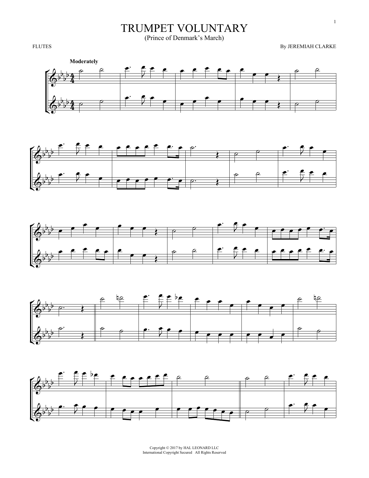 Trumpet Voluntary (Flute Duet)