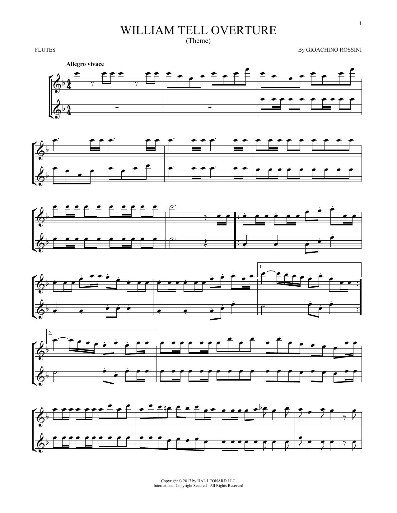 William Tell Overture (Flute Duet)
