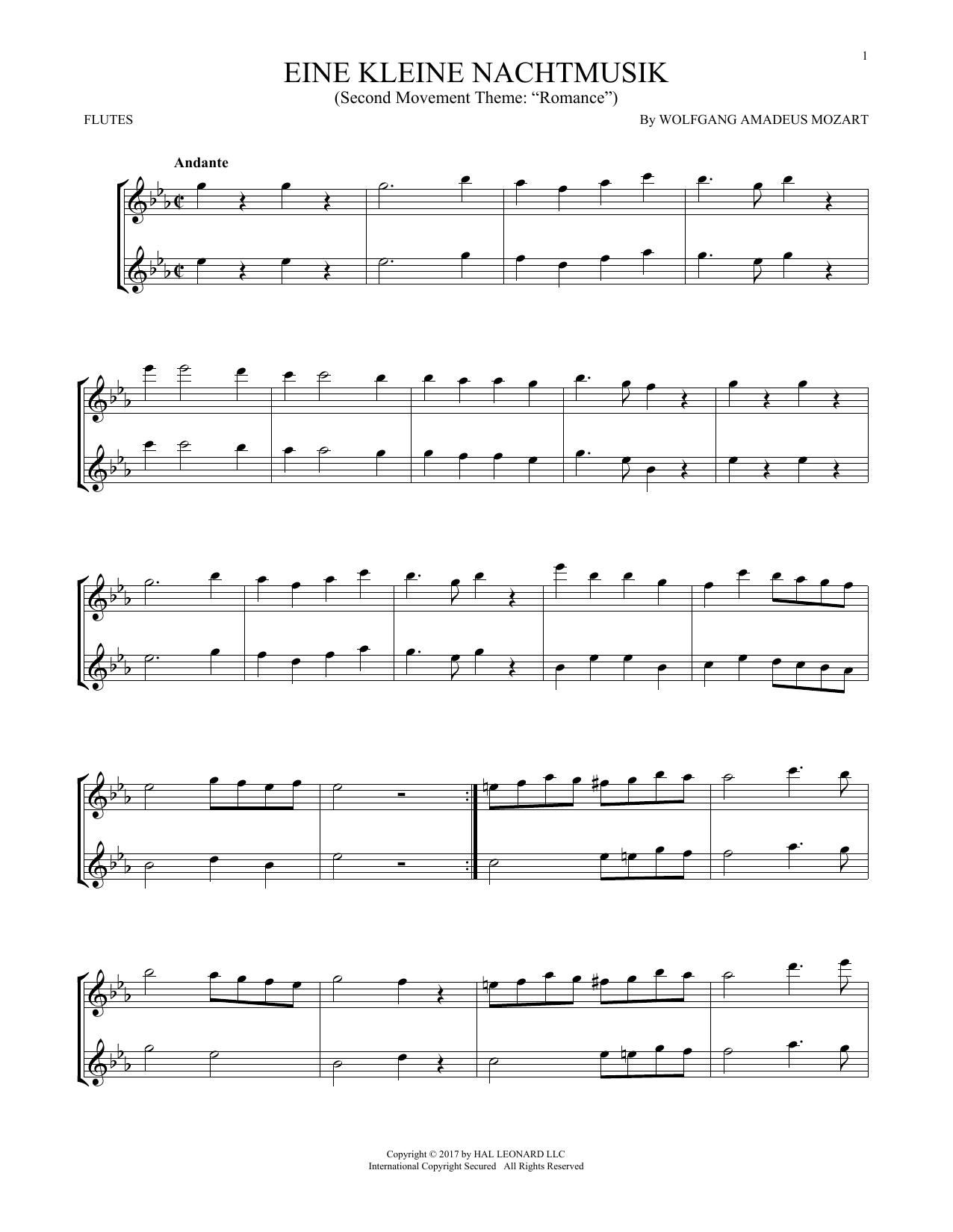 Eine Kleine Nachtmusik (Flute Duet)