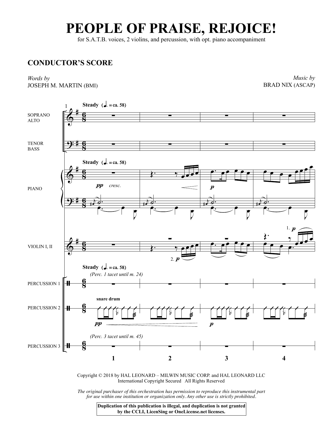 People of Praise, Rejoice! - Full Score (Choir Instrumental Pak)