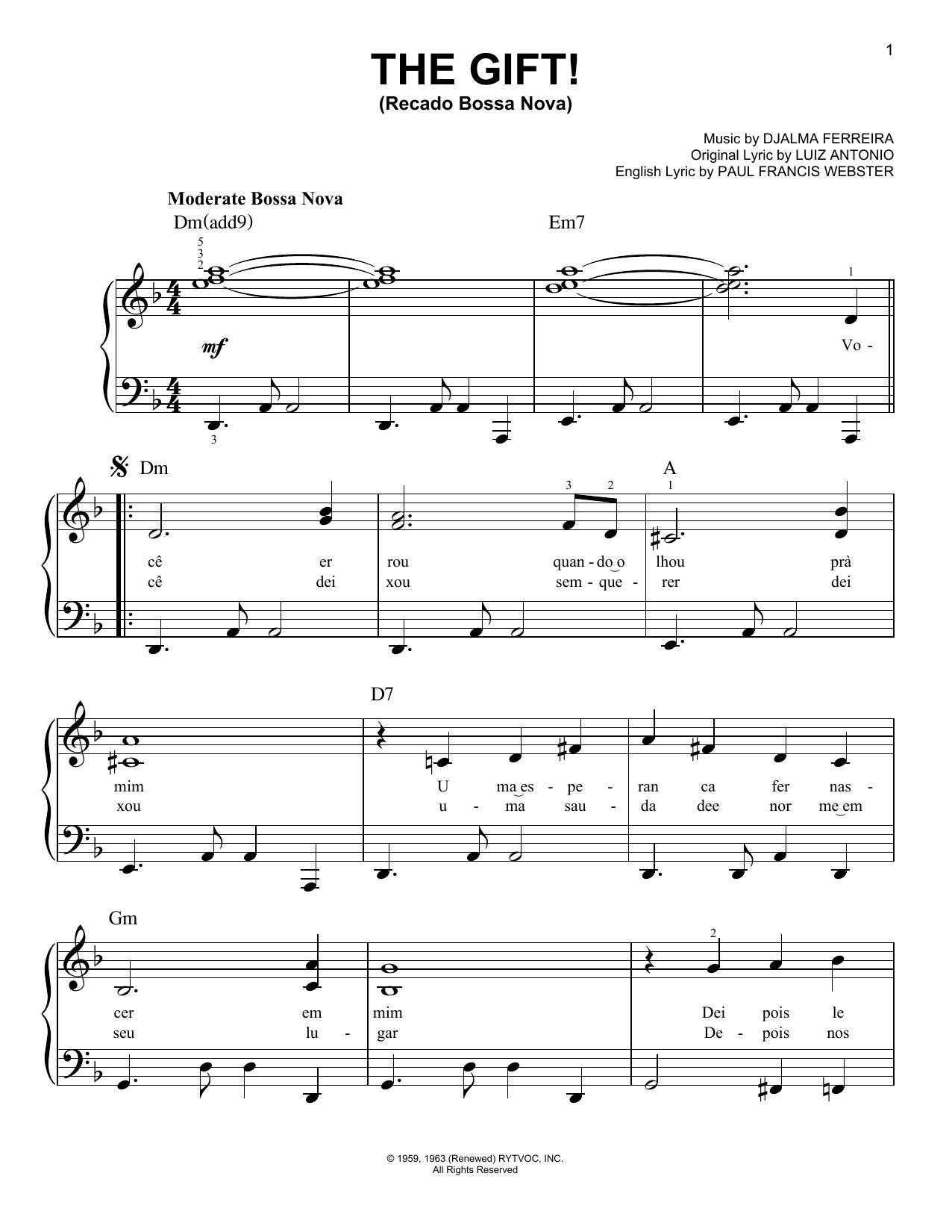The Gift! (Recado Bossa Nova) (Very Easy Piano)