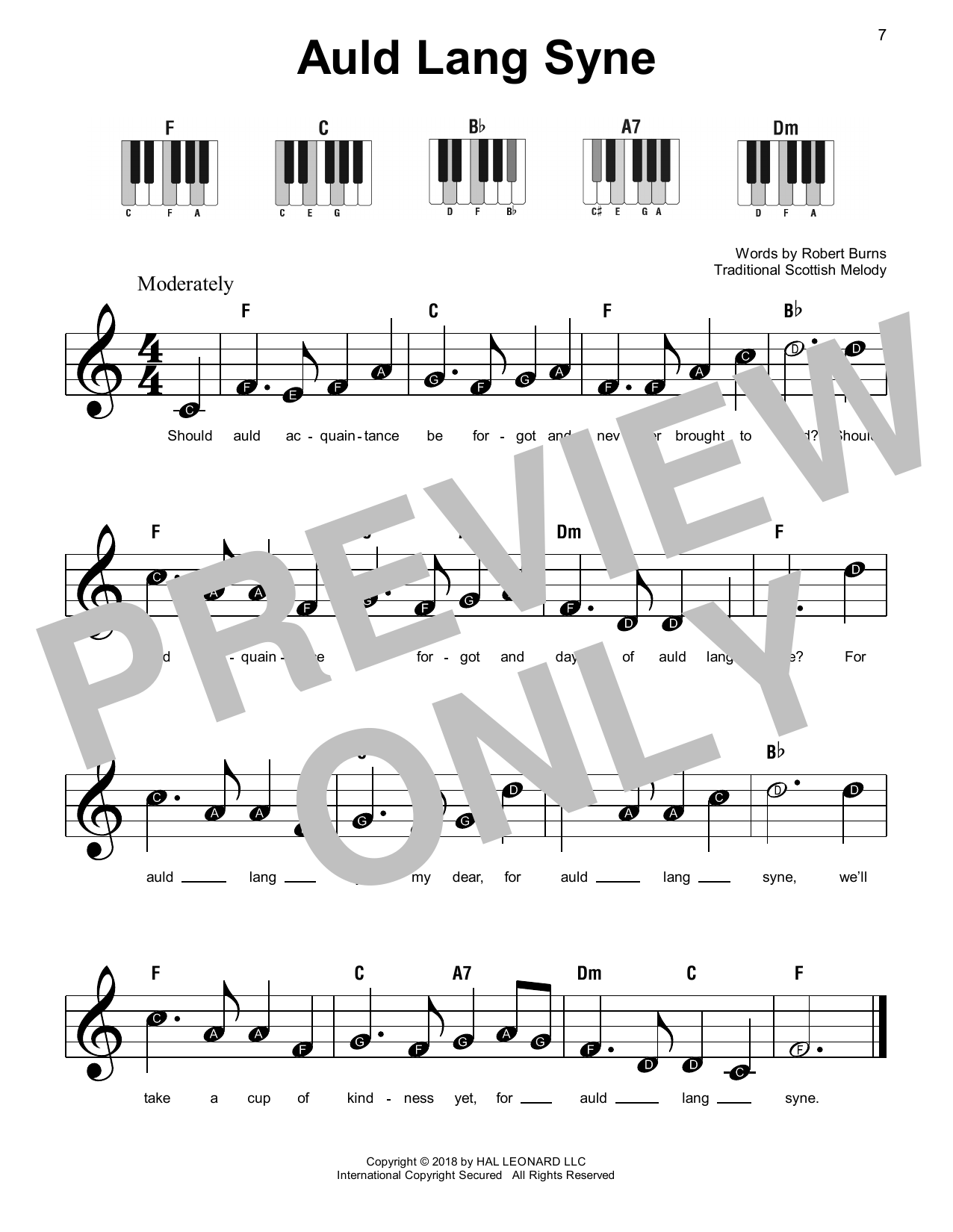 photograph relating to Auld Lang Syne Lyrics Printable named Auld Lang Syne through Conventional Piano, Vocal Guitar (Straight-Hand Melody) Electronic Sheet New music