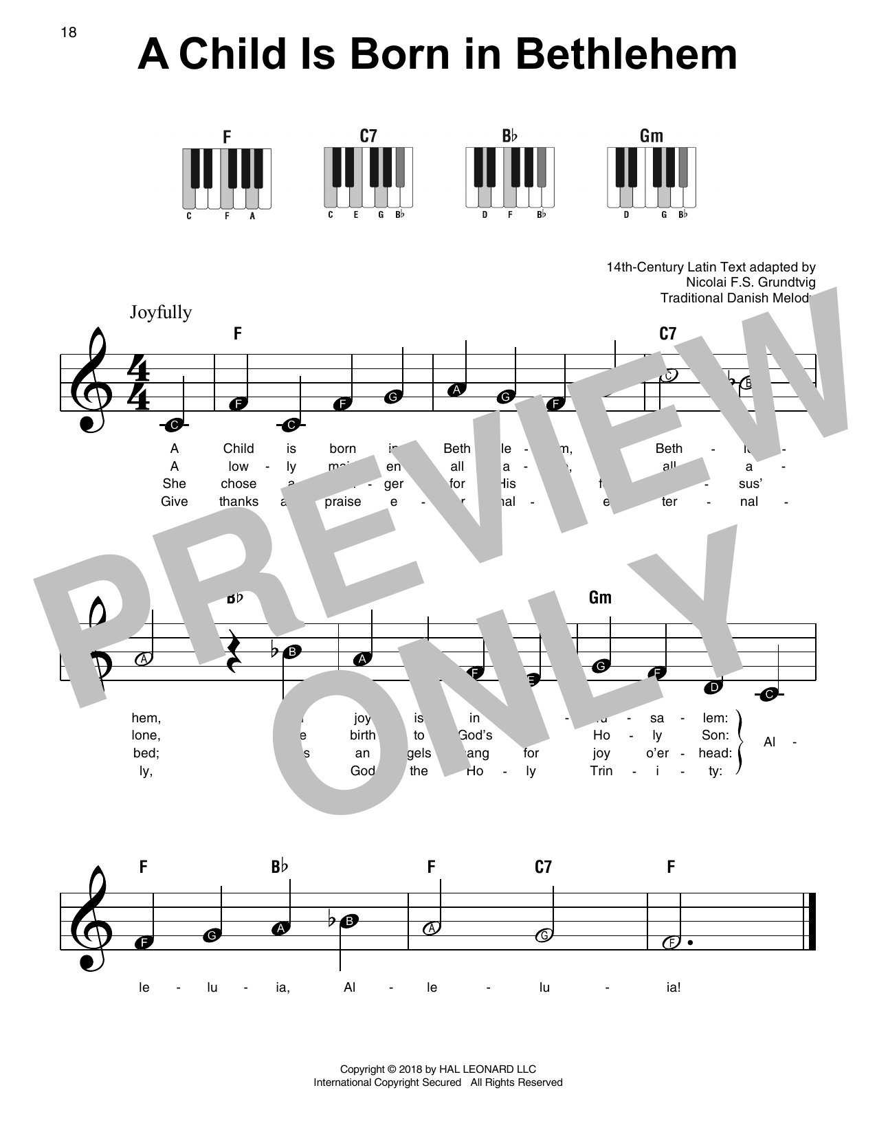 A Child Is Born In Bethlehem (Super Easy Piano)