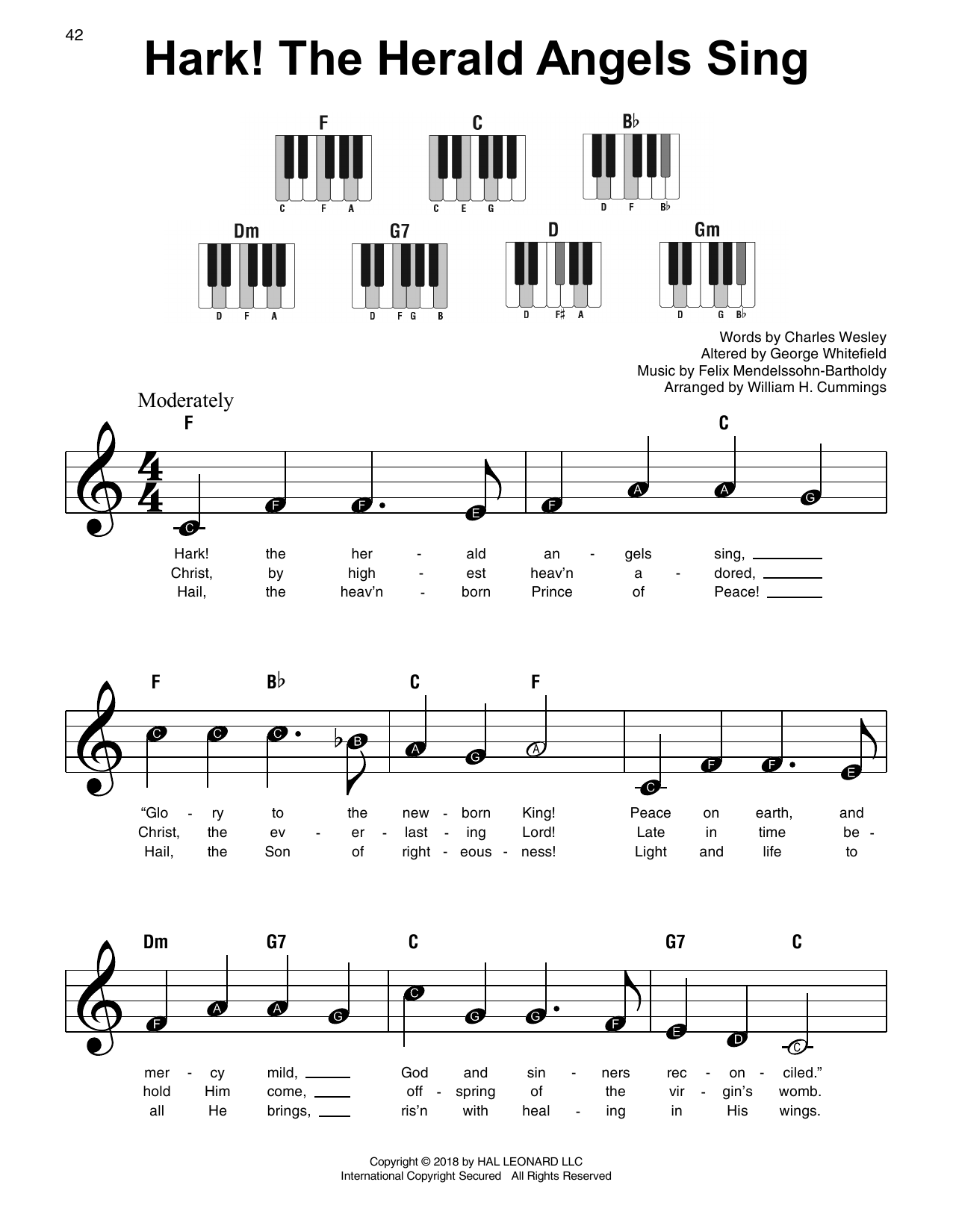 Hark! The Herald Angels Sing (Super Easy Piano)