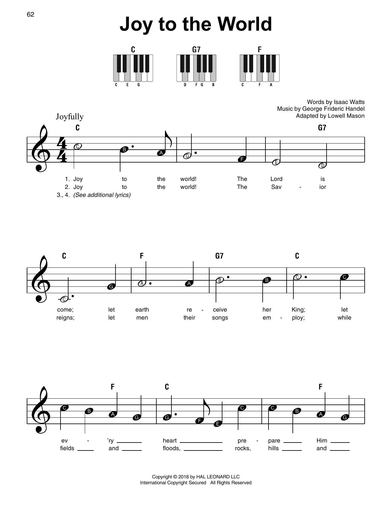 Christmas Carols - Super Easy Songbook Sheet Music by Various - Hal ...