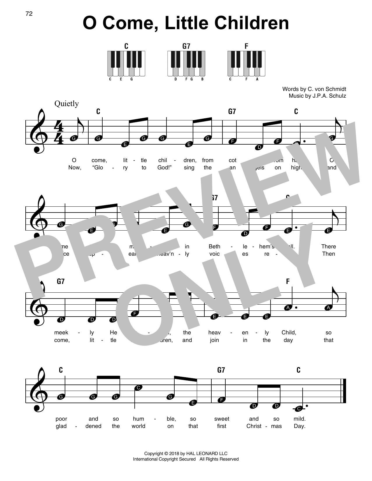 O Come, Little Children (Super Easy Piano)