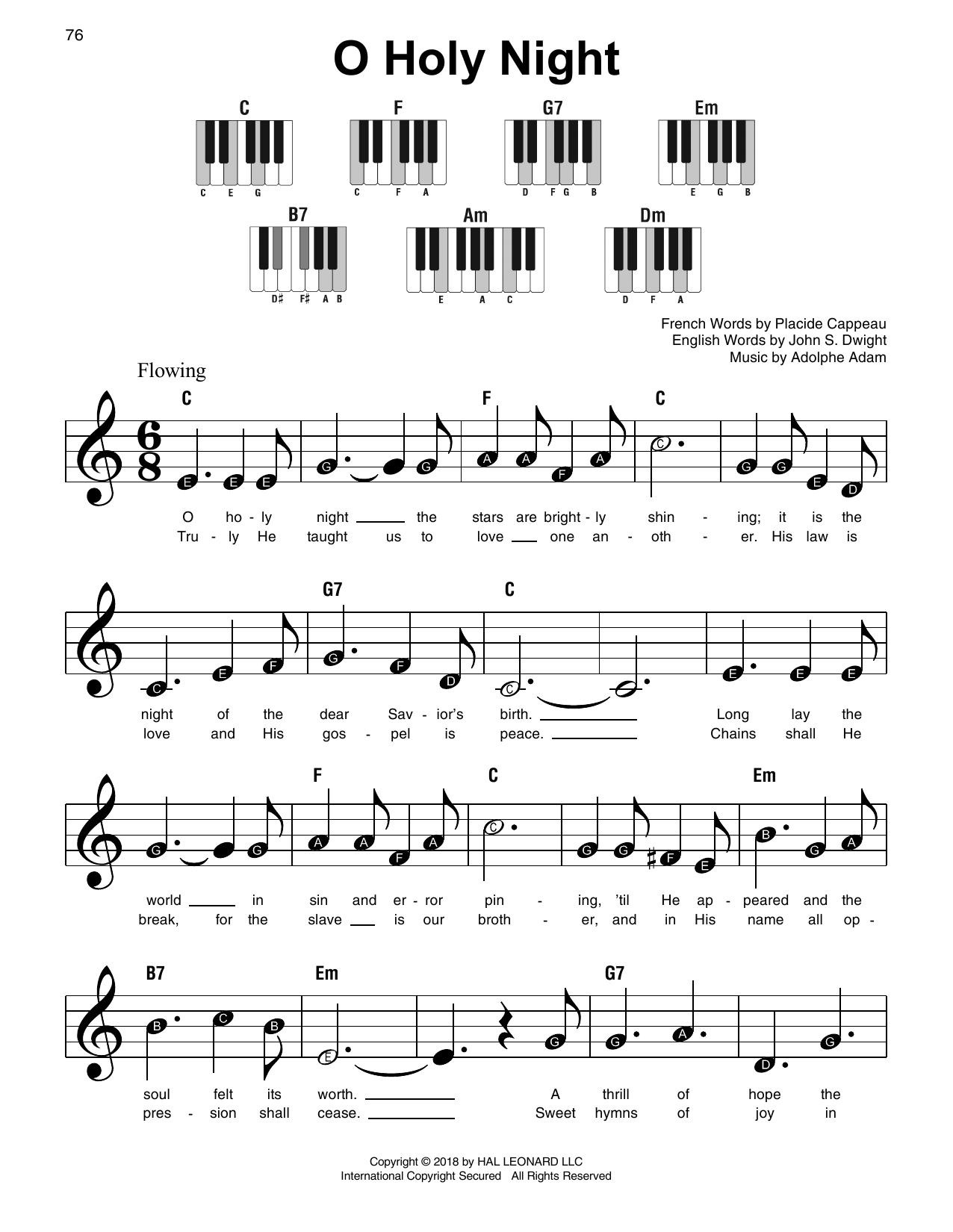 O Holy Night (Super Easy Piano)