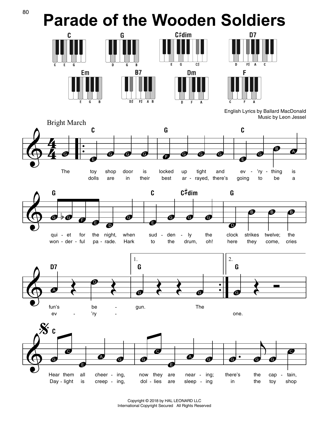 Parade Of The Wooden Soldiers Sheet Music