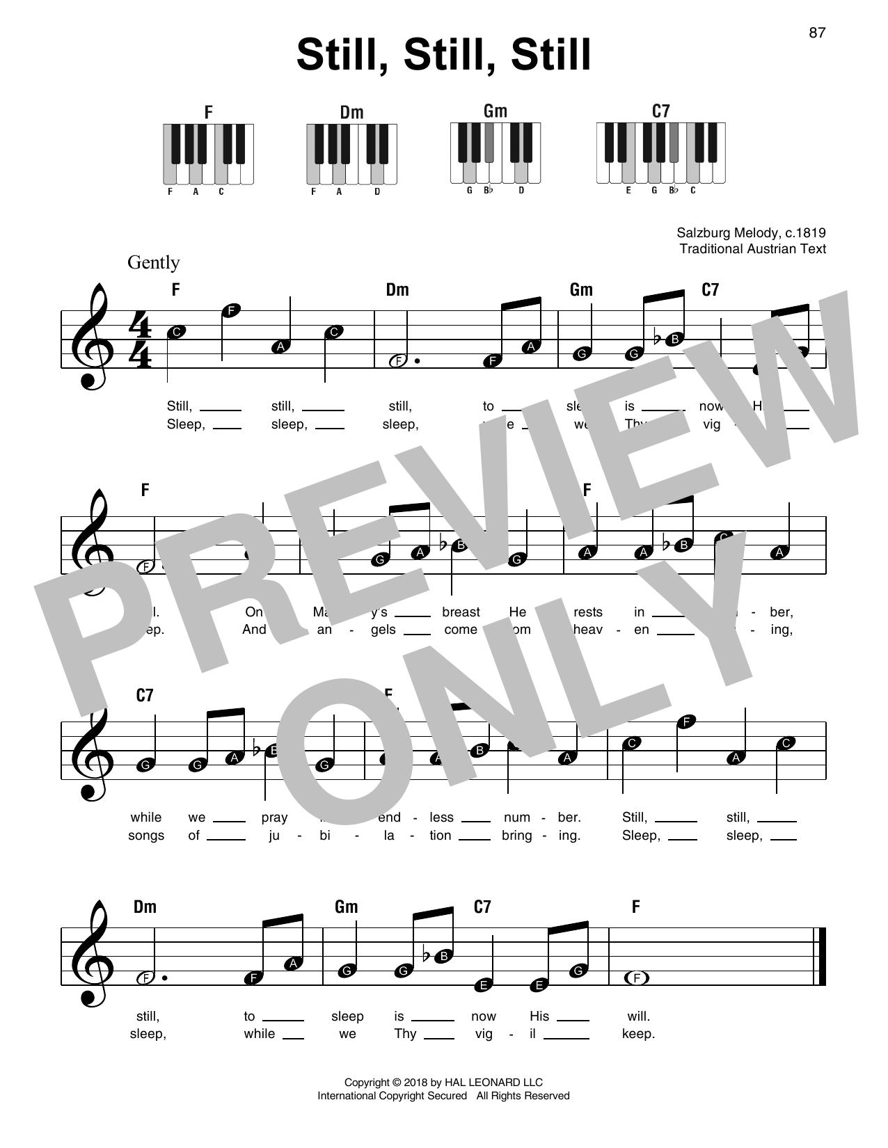 Still, Still, Still (Super Easy Piano)