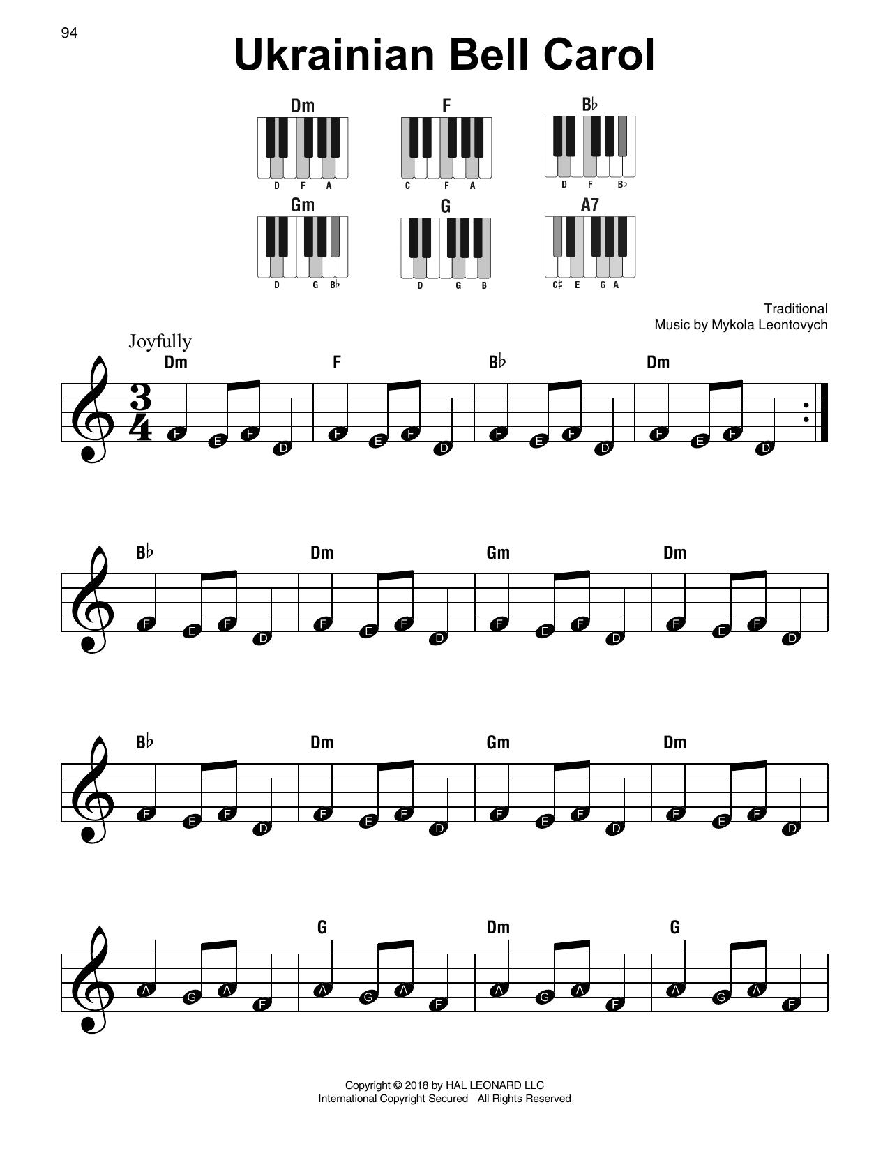 Ukrainian Bell Carol (Super Easy Piano)