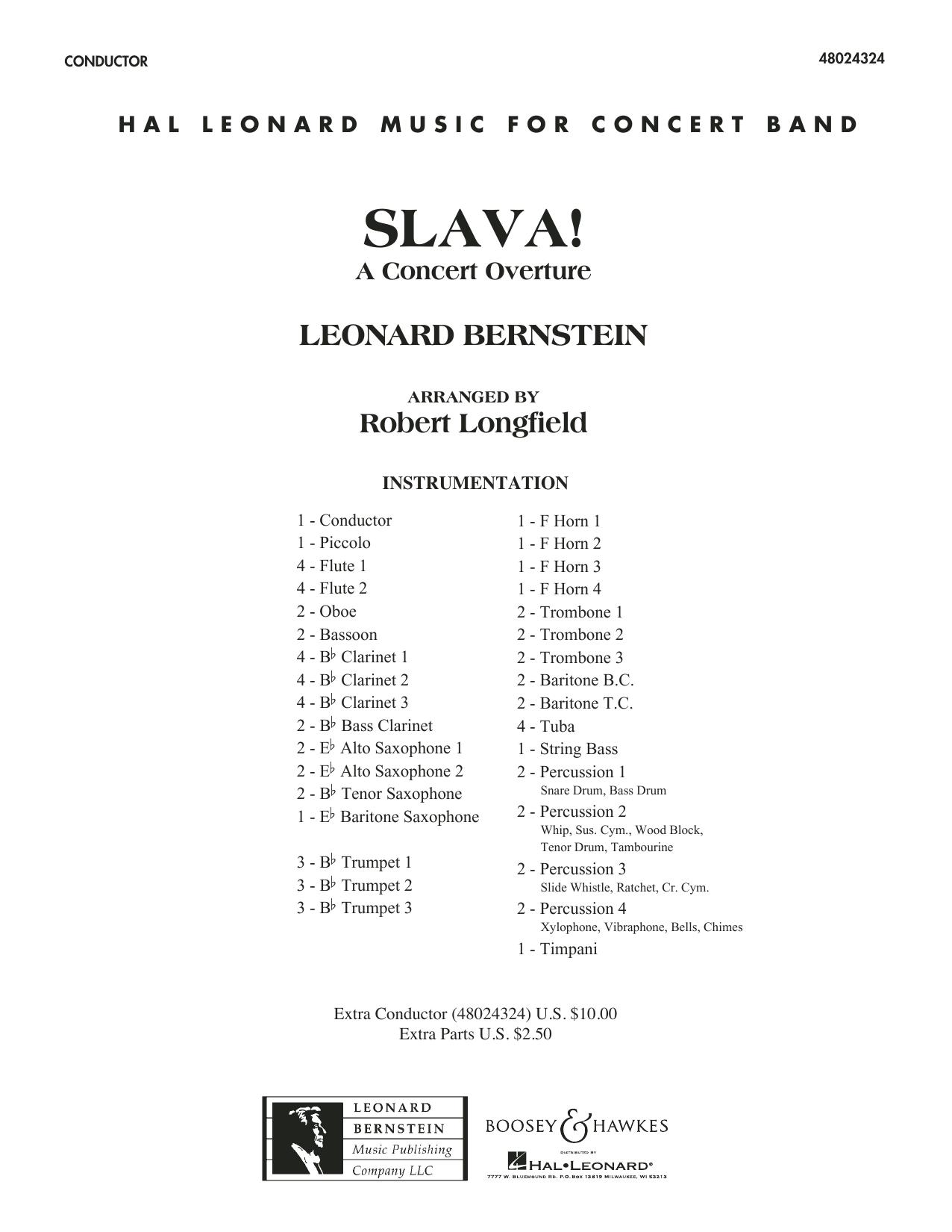 Slava! - Conductor Score (Full Score) (Concert Band)