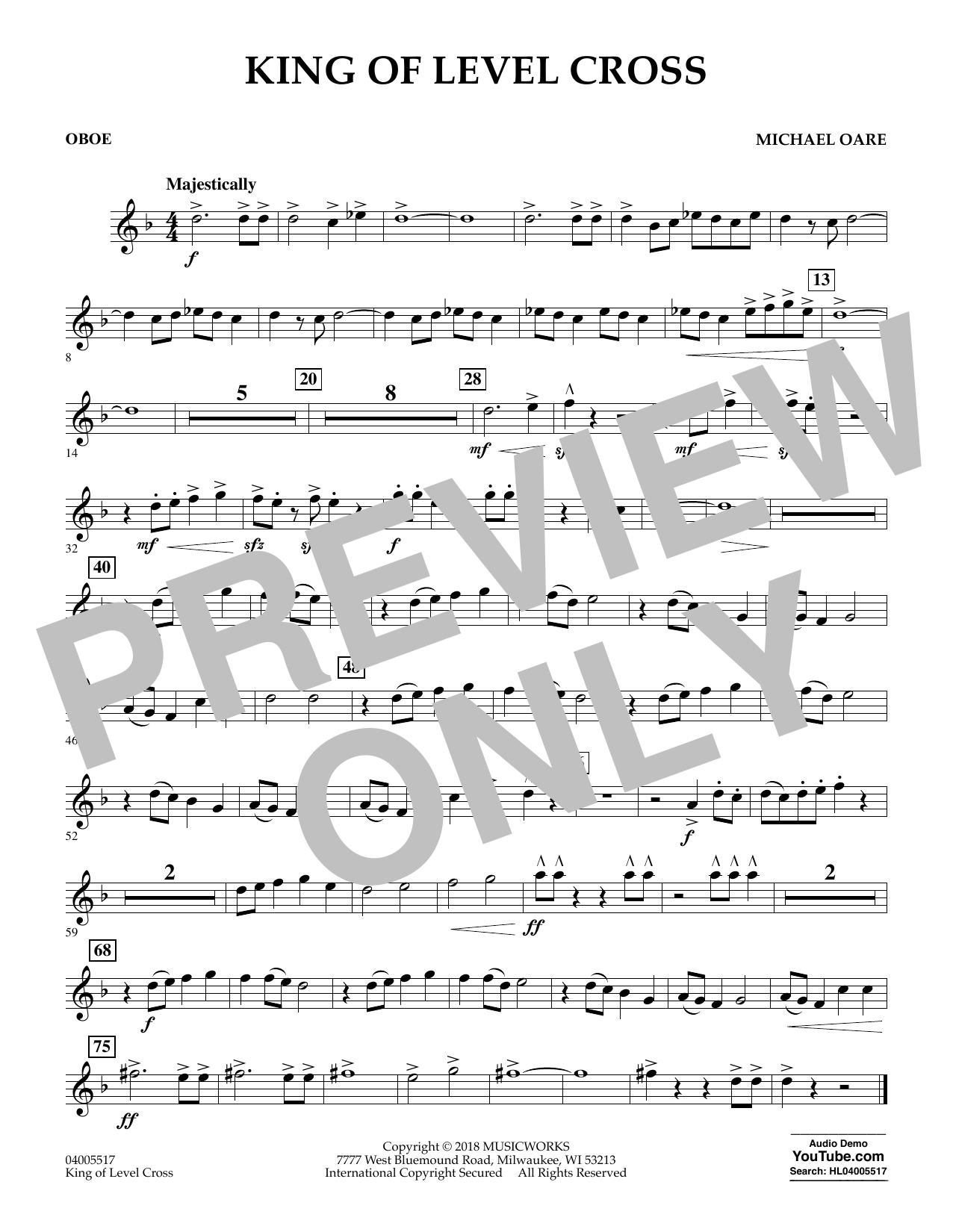 King of Level Cross - Oboe (Concert Band)