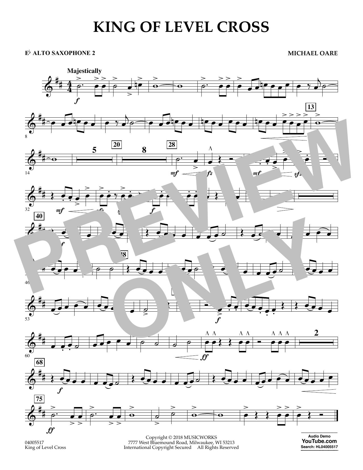 King of Level Cross - Eb Alto Saxophone 2 (Concert Band)
