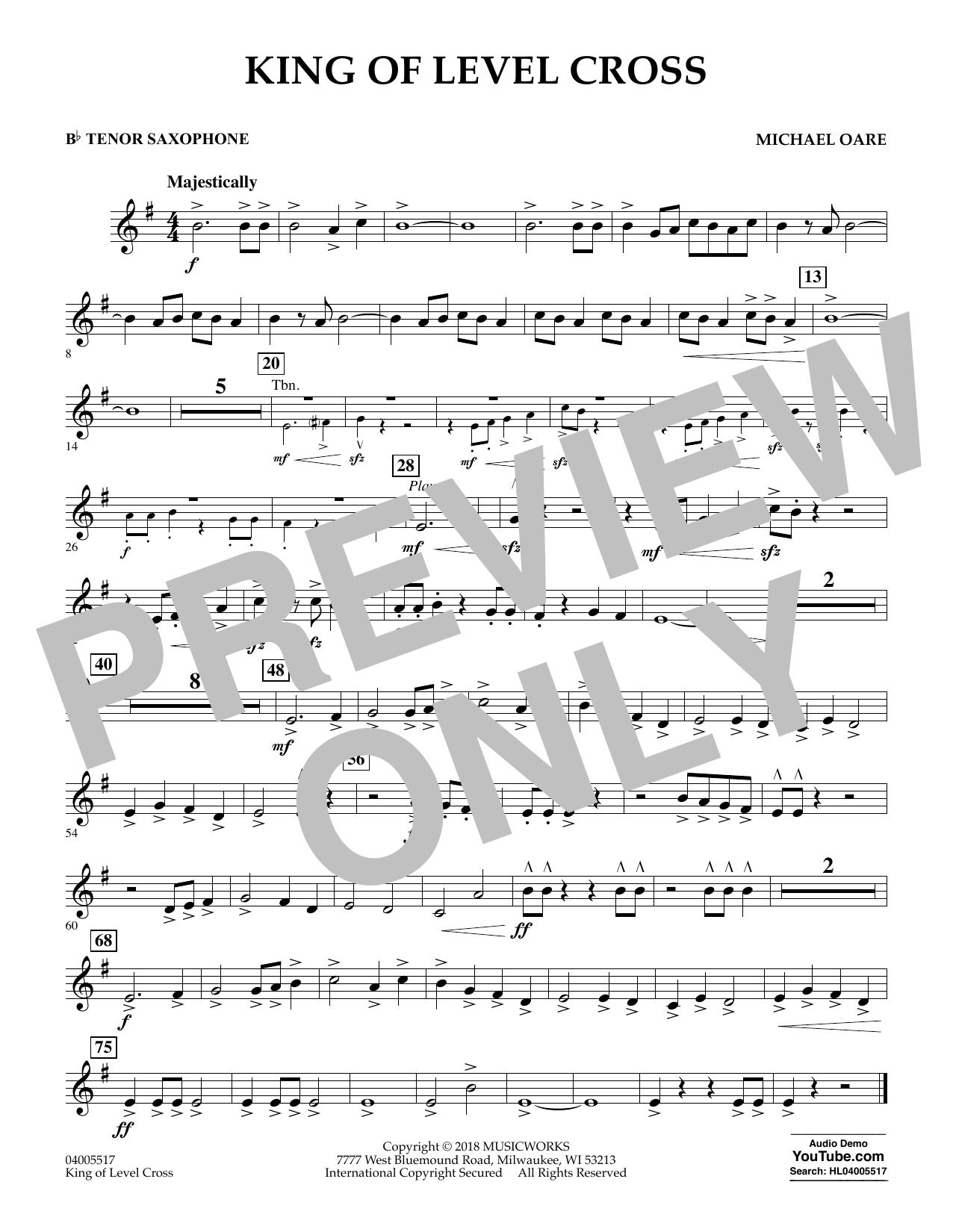 King of Level Cross - Bb Tenor Saxophone (Concert Band)