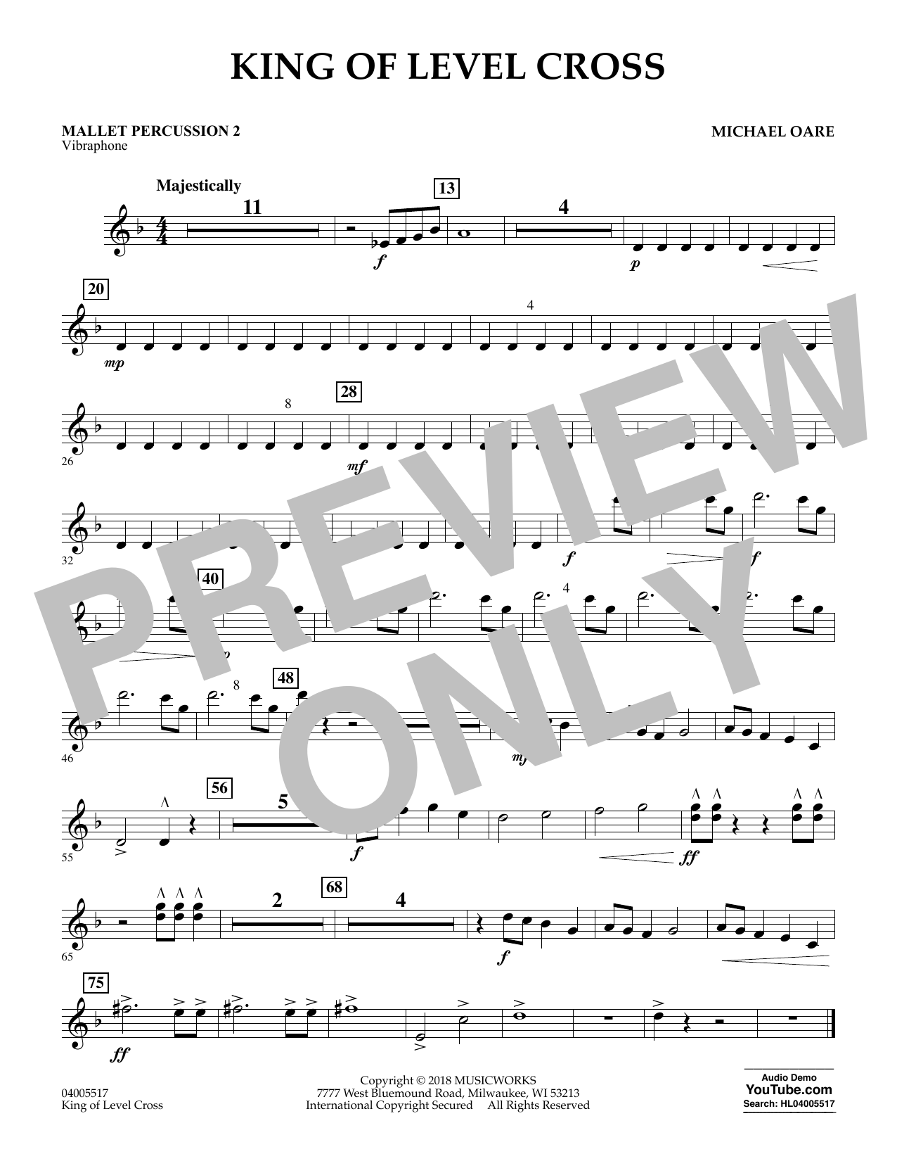 King of Level Cross - Mallet Percussion 2 (Concert Band)
