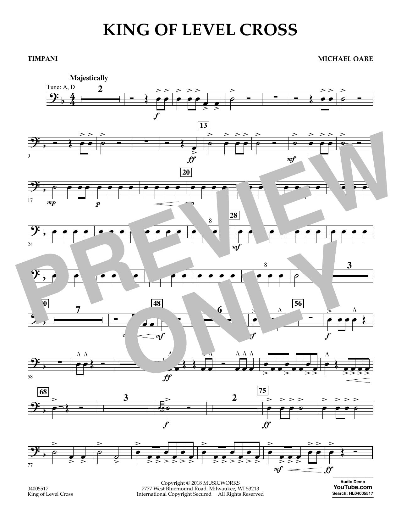 King of Level Cross - Timpani (Concert Band)