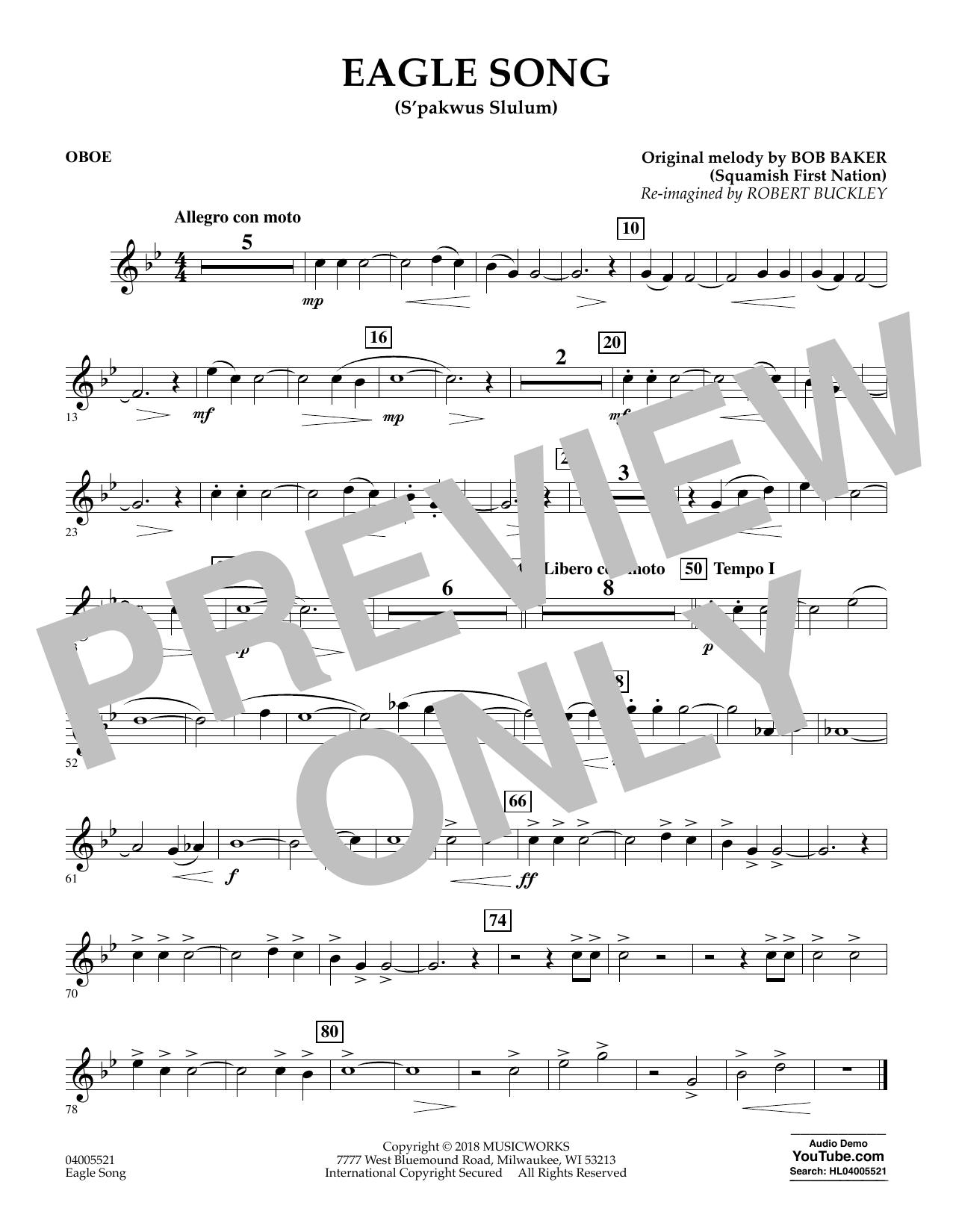 Eagle Song - Oboe (Concert Band)